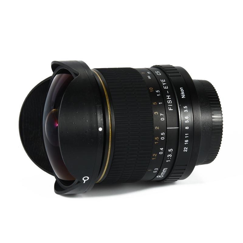 Kelda 8mm F/3.5 F3.5 Ultra Wide Fisheye Manual Prime camera LENS for nikon D90 D300S D7100 D7000 D5300 D5200 D3300 D3200 D5000 voking vk 8mm f3 5 fisheye ultra wide lens for nikon d3400 d5300 d3200 d5200 d5600 d5000 d7200 d60 d850 with aps c full frame
