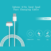 Hot sales High Quality Data Sync Fast Charging USB Cable Mobile Phone carregador for Iphone 4 4s Ipad mini Ipod charger Adapters