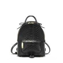 Мода 2017 г. Змеиный узор из искусственной кожи рюкзак мини Размеры Женская сумка Твердые Цвет Bagpack школьная сумка