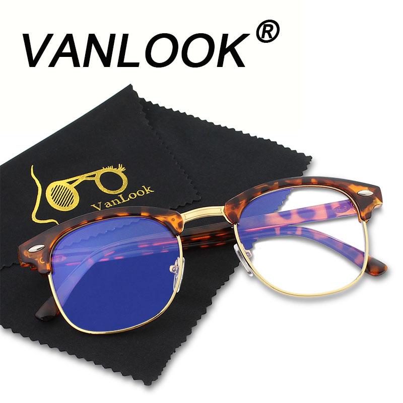 Ordenador Gafas transparente para mujer hombre Marcos anti Blueray claro moda ojo Gafas oversize oculos de Grau