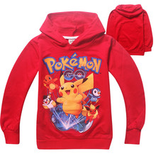 Pokemon sweatshirt kids clothes girls hoodies autumn cartoon girls sweatshirt boys hoodies pikachu children t shirt sweat enfant