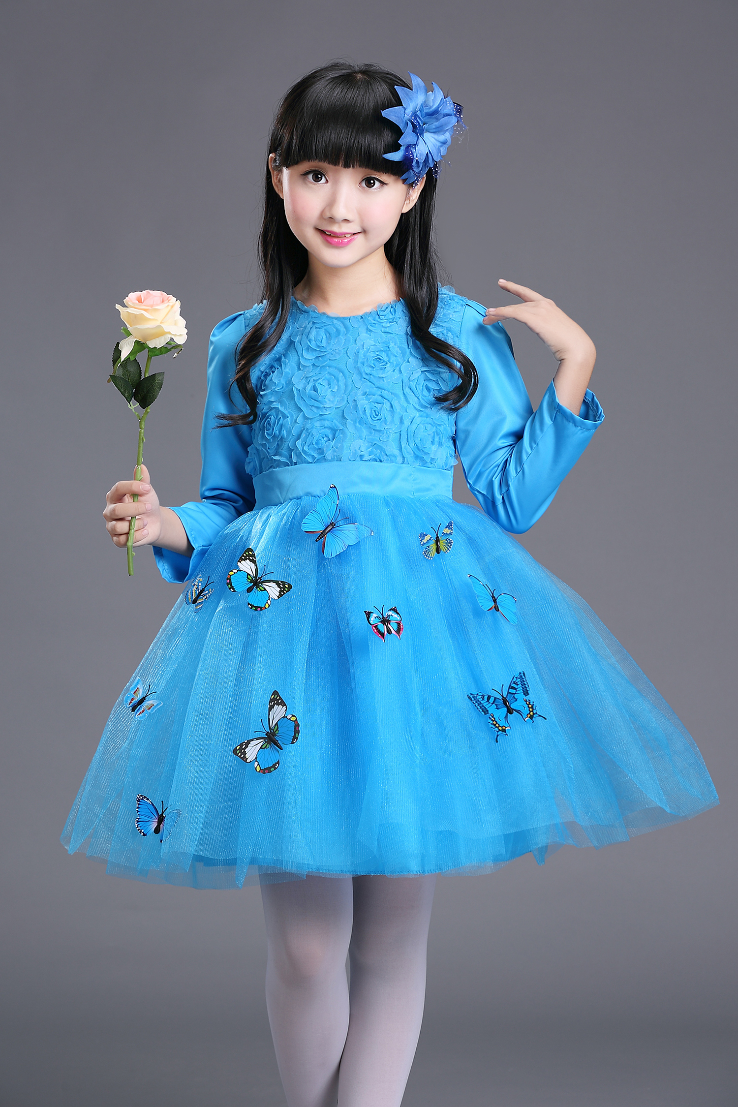 Baby Girl Wedding Party Dress Toddler Girl New Year Ball Gown Big ...