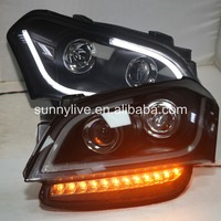 For KIA Soul LED Angel Eyes Head Lamp 2008 2011 year JY
