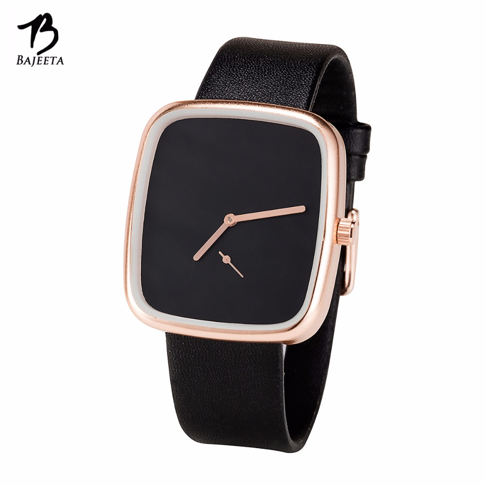 BAJEETA nouvelle arrivée Style Simple femmes montre mode robe en cuir élégant Quartz montre décontracté bracelet dame casual Rectangle horloge livraison directe 4