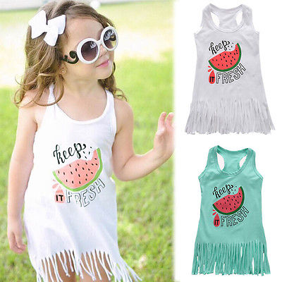8e8216683c7 2017 New Arrivals Hot Kids Brief Baby Girls Fashion Vogue Cotton Party  Sleeveless Princess Dresses Casual Dress