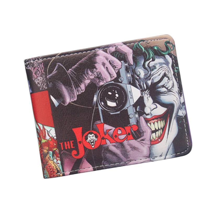 2018 New Batman The Joker Wallets Funny Comics Character Joker With Camera Men Wallet Suicide Squad Cards Wallet Gift For Boy fvip movie suicide squad wallet the joker harley quinn dc comics bifold men women wallets with card holder purse billeteras