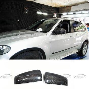 E70 samochodu stylizacji samochodów z włókna węglowego lusterko wsteczne pokrywa osłona na lusterko boczne wymień nasadkę zamiennik dla BMW E70
