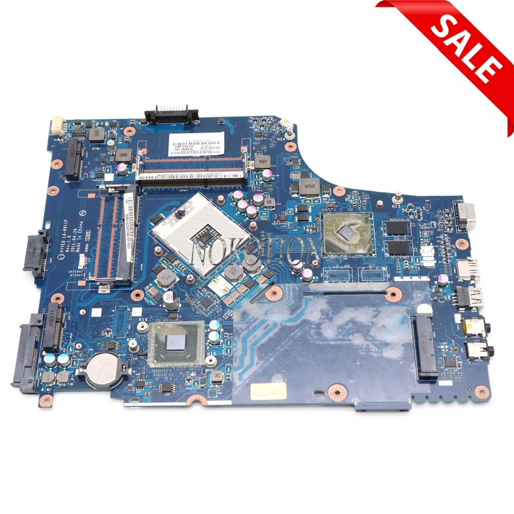 цена на NOKOTION MB.BVV02.001 P7YE0 LA-6911P Rev 1.0 MBBVV02001 For acer aspire 7750 7750g motherboard HM65 DDR3 HD 7400M ATI graphics