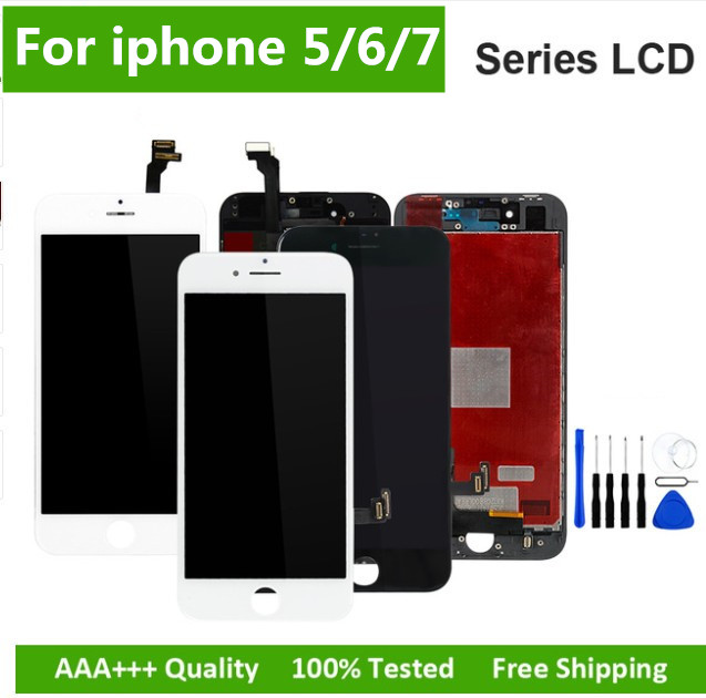 Black/White Assembly LCD Display Digitizer for iPhone 6s AAA Quality LCD Touch Screen for iPhone 6 7 5s No Dead Pixel with GiftsBlack/White Assembly LCD Display Digitizer for iPhone 6s AAA Quality LCD Touch Screen for iPhone 6 7 5s No Dead Pixel with Gifts