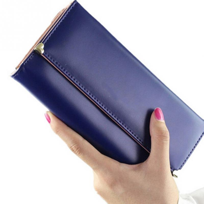 Leather Women Wallet Fashion Handbag Cards Holder Wallet Long Wallet Ladies Wallet