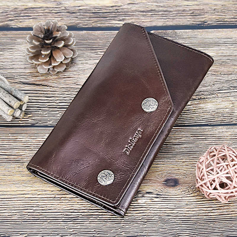 DICIHAYA Brnad, мужские кошельки из натуральной кожи, винтажный кошелек с тремя сложениями, кошелек на молнии с карманом для монет, кошелек из мягкой яловой кожи для мужчин s