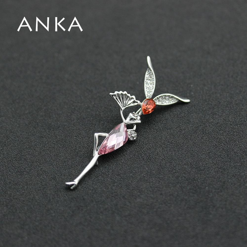 ANKA рисунок Кристалл Броши морской эльф булавка Кристалл ювелирные изделия цветы эльфы Главный Камень Кристаллы из Австрия#87560
