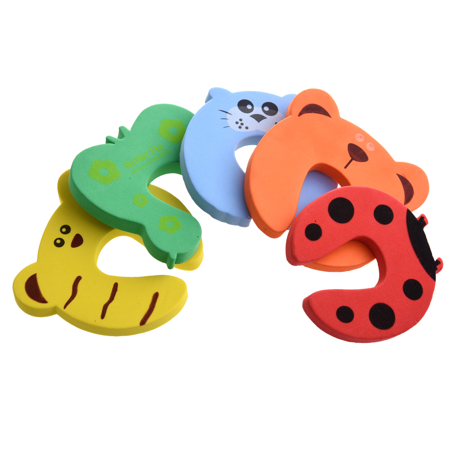 5 Packs 5x Baby Kids Door Jammer Finger Pinch Guard Child Toddler Infant Safety Protector Stopper Cute Animal Designs hot sale 4pcs lot cute pack baby safety animal door stop finger pinch guard 18