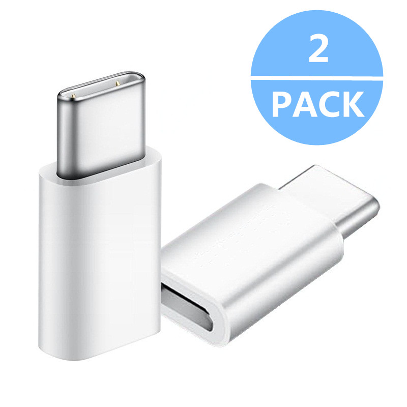 2PCS Type-C To Micro USB Adapter For LG G5/G5 SE/G6/G6 Mini/G6 Plus/G7/Q8 Type-C Converter Fast Charger Data Sync Connector