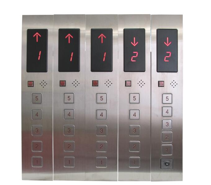 DC24V 5-Floors Hall Call Display Button Plate for Elevator Lift