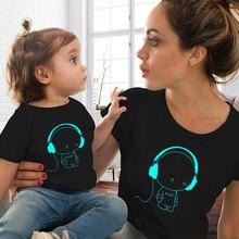 Одежда для мамы и меня летняя Одинаковая одежда для мамы и дочки семейная одежда для мамы и дочки футболка для маленьких мальчиков и девочек