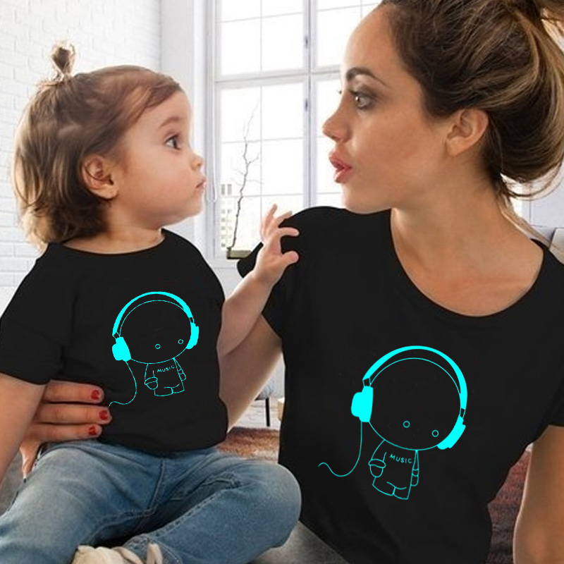 2019 Mommy And Me Clothes Summer Mom And Daughter Matching Clothes Mother And Daughter Family Outfit T-shirt For Baby Boy Girls