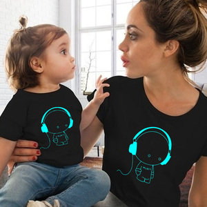 Image 1 - 2019 mommy and me clothes summer mom and daughter matching clothes mother and daughter family outfit t shirt for baby boy girls