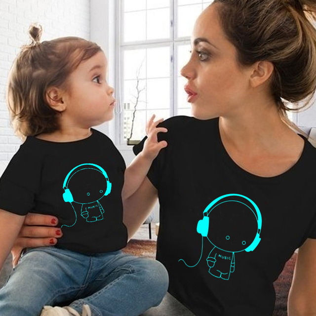 2019 mommy and me clothes summer mom and daughter matching clothes mother and daughter family outfit t shirt for baby boy girls
