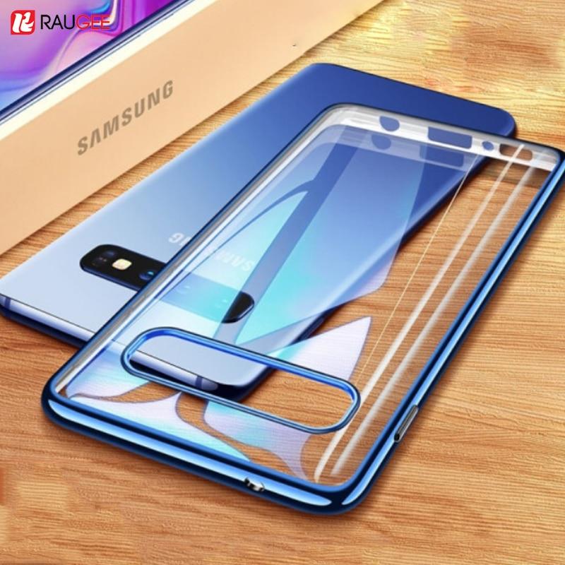 Raugee Case For Samsung Galaxy S10 Transparent Case Samsung Galaxy S10 Plus S10e S 10 Cover Soft Slim Clear Phone Case Fundas
