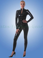 Handmade Latex Catsuit Rubber Bodysuit Gummi 0 4mm Latex Leotard Front Zipper To Crotch Zentai