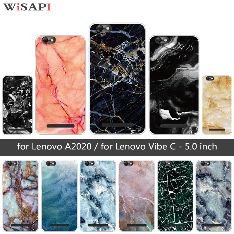 """Мягкий силиконовый для lenovo Vibe C/A2020 Marb телефон чехлы для lenovo A2020 A2020a40 DS 2020 5,0"""" чехол для lenovo A2020"""