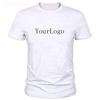 Của RIÊNG bạn Thiết Kế Thương Hiệu Logo/Ảnh Trắng Custom t-shirt Cộng Với Kích Thước T Shirt Men Quần Áo