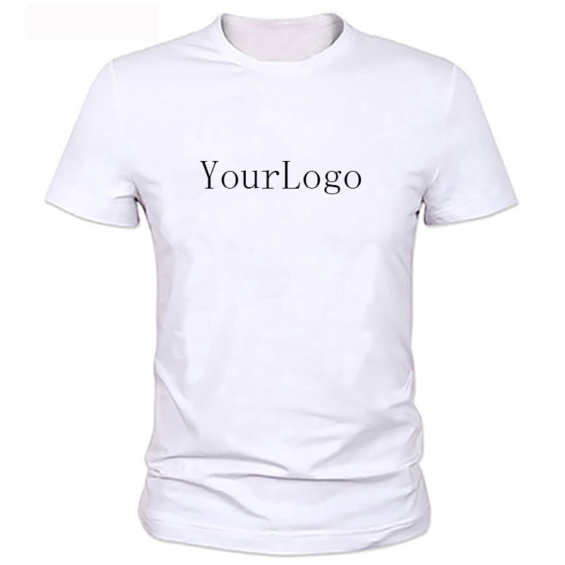 Your own design brand logo picture white custom t shirt for T shirts with your own logo