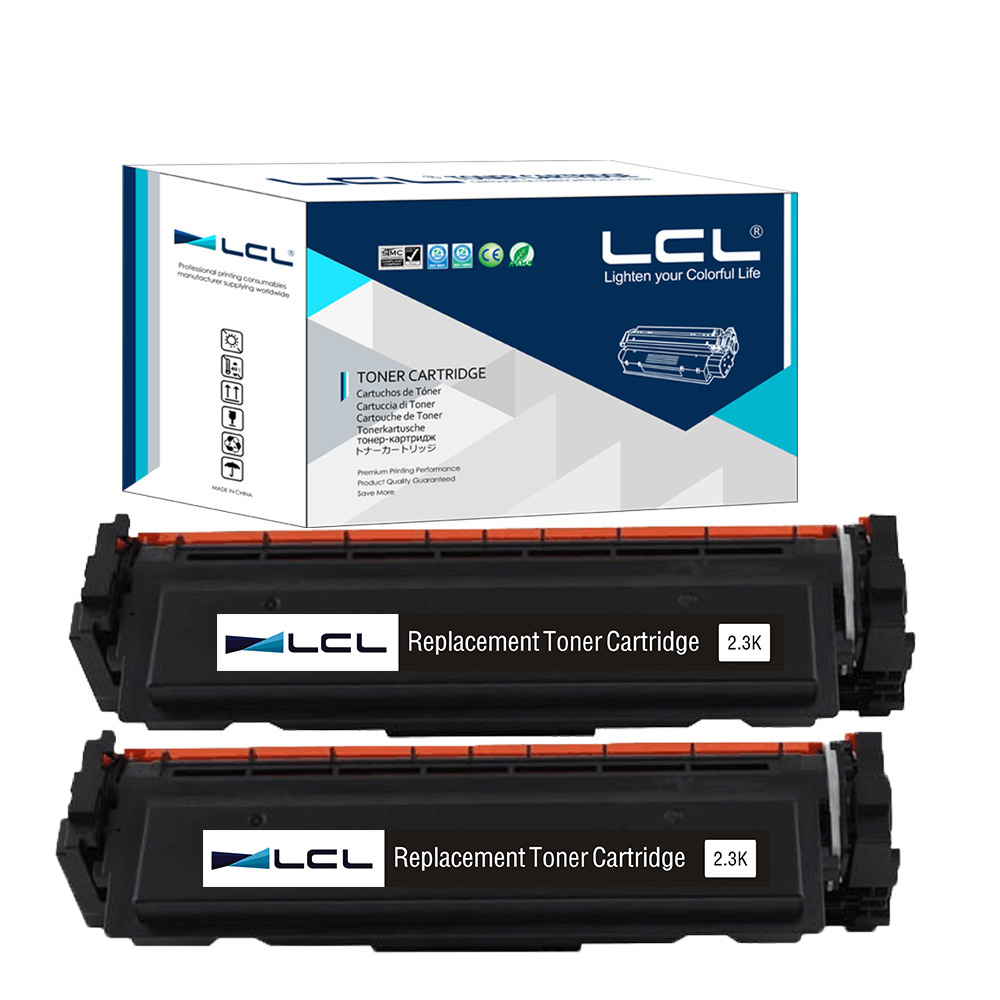 LCL 410A CF410A  410  CF410 410A  (2-Pack) Black Toner Cartridge Compatible for  HP Color LaserJet Pro M452dn/M477fdw/M477fnw black toner cf400a 400a 2 pack toner cartridge compatible for hp color laserjet pro m252dw with chip