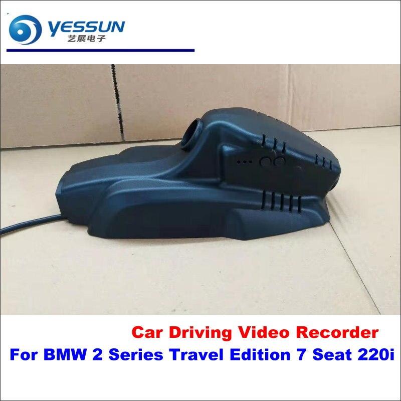 Enregistreur vidéo de conduite de voiture YESSUN DVR pour BMW série 2 édition de voyage 7 places 220i caméra avant prise automatique de caméra de tableau de bord