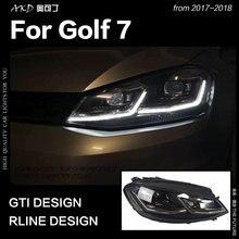 AKD автомобильный Стайлинг для VW Golf 7 MK7 светодиодный налобный фонарь Golf7.5 R LINE Design DRL Hid Dynamic Signal Head Lamp Bi Xenon Beam аксессуары
