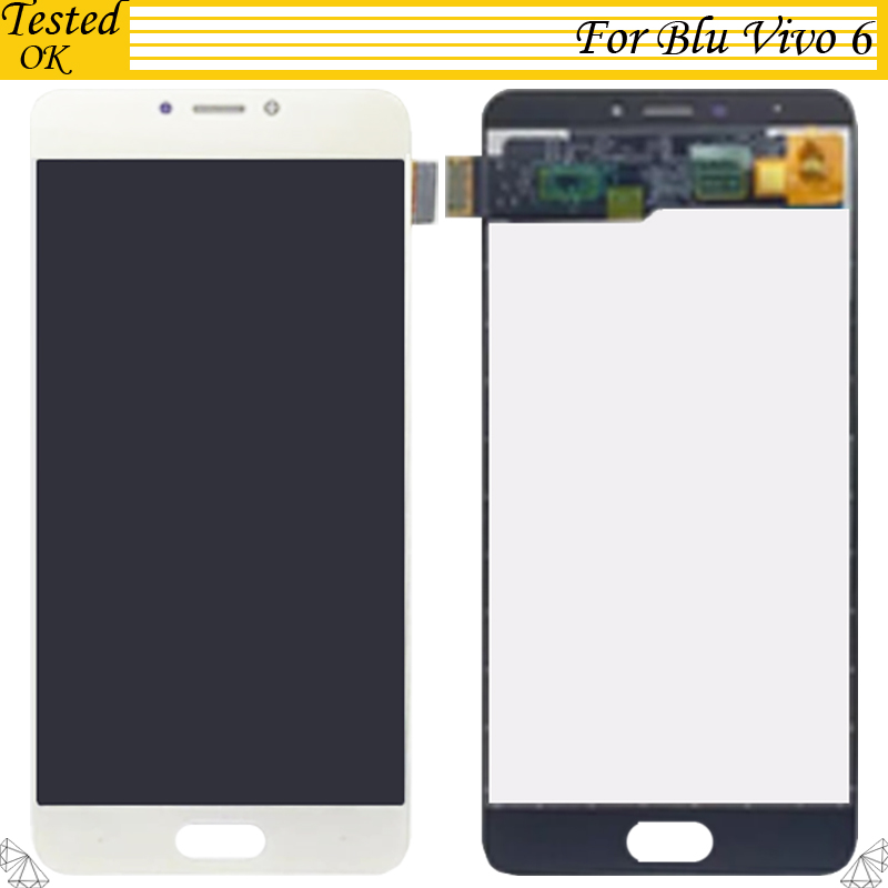 White Black Gold Color For Blu Vivo 6 LCD Display Screen Touch Screen Digitizer 100 Tested