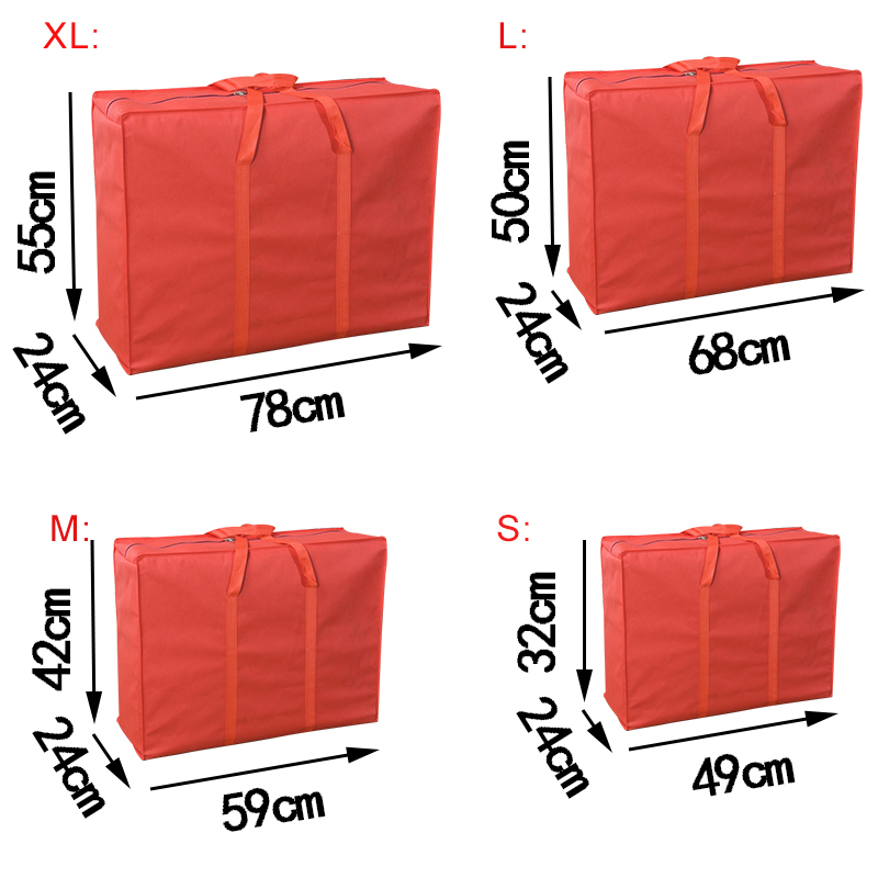 Clothes and Christmas Tree Pillows Duvets Rich-home Garden Furniture Cushion Storage Bag Waterproof Large Capacity Storage Bag with Zips for Bedding