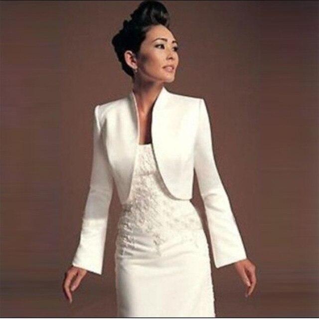 Мода Белый Кот Болеро Женщины Бежевый длинные рукава свадебные куртки свадебные платки Куртка Свадьба Аксессуары 2017