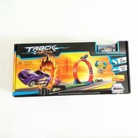 Hot Kinderen atletische track rail trek Auto Terug model auto gemonteerd treinwagon carros brinquedos park garage suite speelgoed