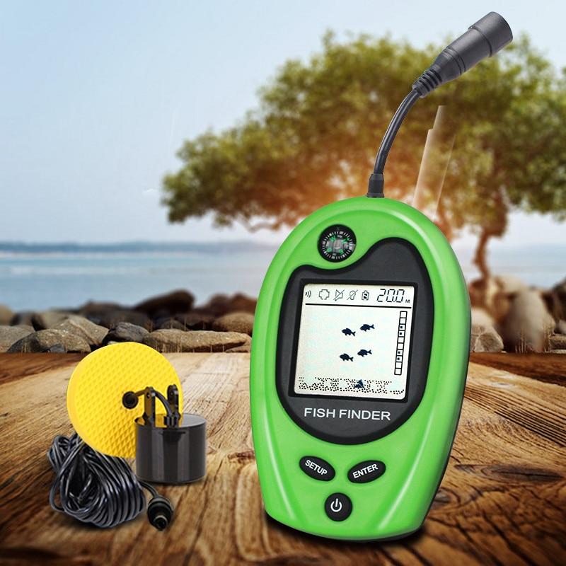 Sondeur de profondeur Portable 2018 GPS marin sondeur de profondeur Sonar de 100 M pieds Sonar de poisson avec affichage de la fonction Compas haute définition