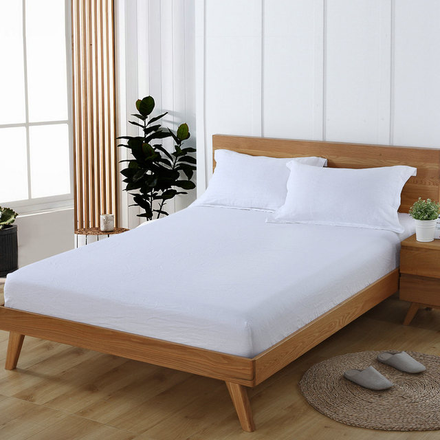With Border 4CM White Linen Pillowcase Linen Bed Sheet 100% French Linen  Fitted Sheet 3
