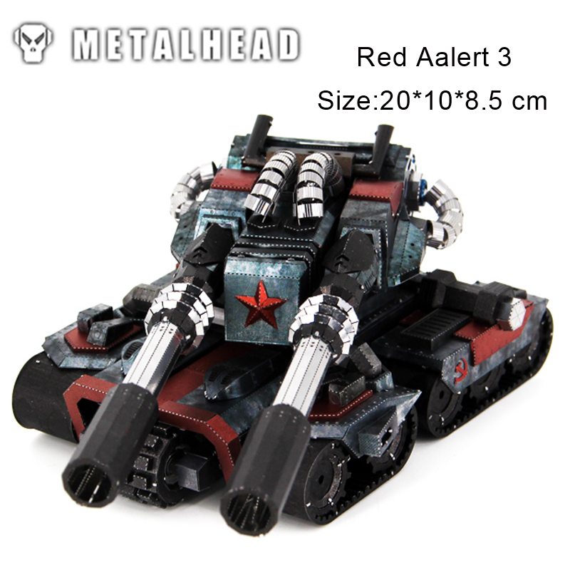 Colorful Apocalypse Tanks Red Aalert 3 3D Metal Puzzle Model Educational Collection Birthday Gift Jigsaw Adult Kids Manual Toys colorful god of war returns 3d metal puzzles model for adult kids manual jigsaw educational toys desktop display collection gift