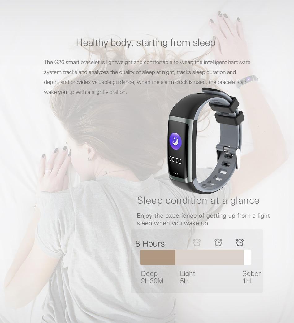 Cerreat G26 Smart Band IP67 Waterproof Heart Rate Fitness Tracker Smart Bracelet with Blood pressure oxygen monitor Color Screen (5)