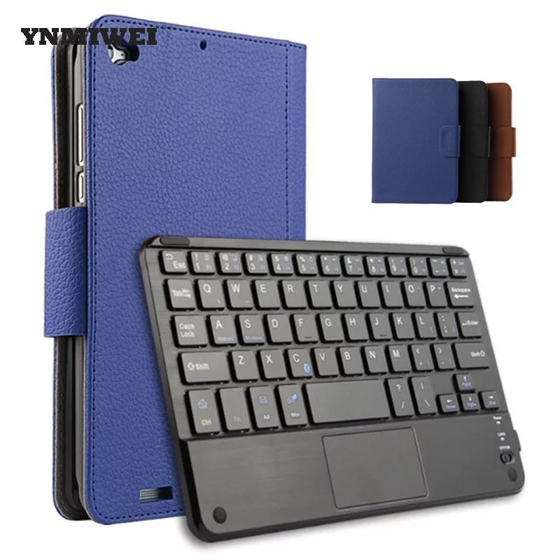 For Xiaomi Mi pad 3 Case 2017 7.9 Inch Bluetooth Keyboard Tablet Pad Protective Case Cover Solid PU Leather Fashion YNMIWEI universal 61 key bluetooth keyboard w pu leather case for 7 8 tablet pc black