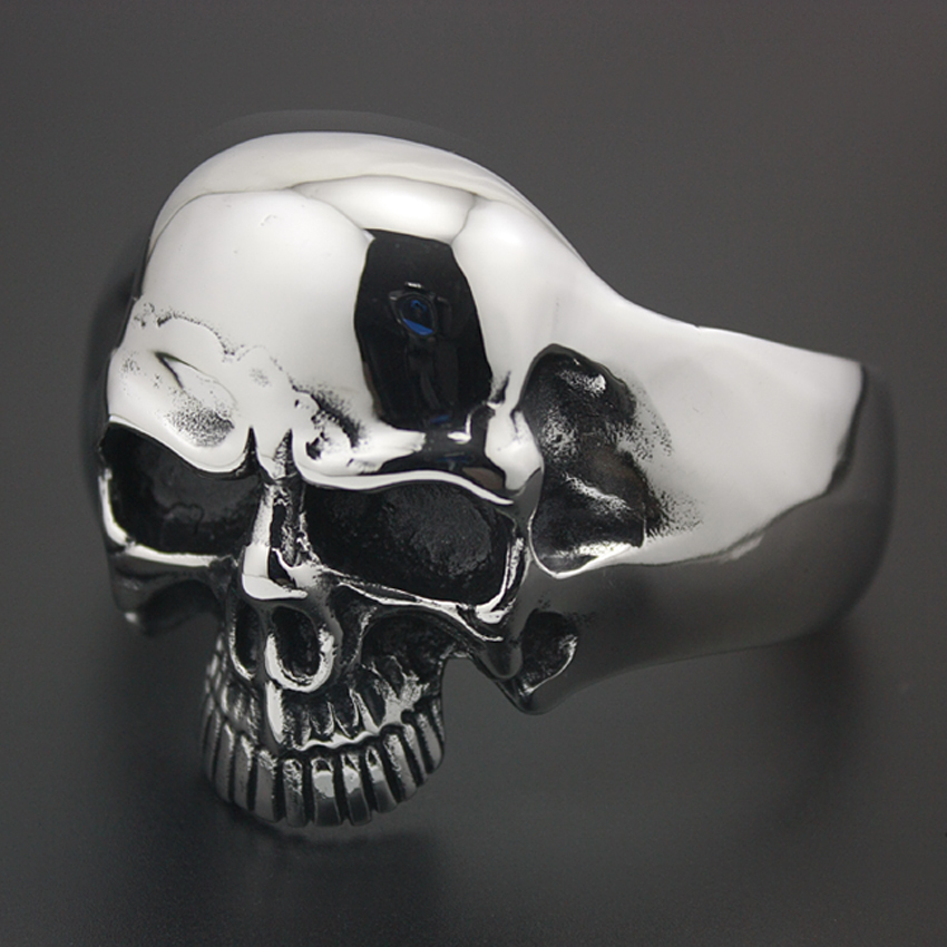 Image 4 - 316L Stainless Steel Huge Heavy Skull Mens Biker Rocker Punk 