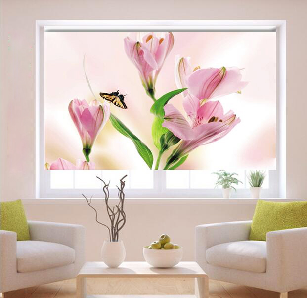 free shipping blackout thermal window lovely flowers. Black Bedroom Furniture Sets. Home Design Ideas