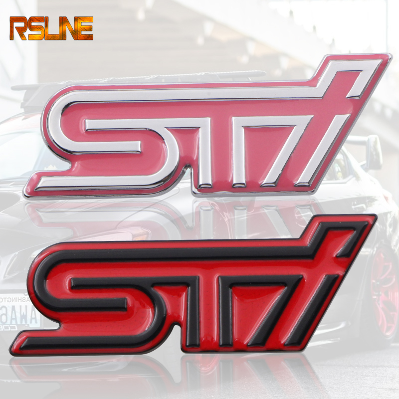 3D Excellent Smooth Glossy Metal STI Emblem Badge Sticker for Subaru XV Legacy Forester Impreza WRX Car-Styling Accessories
