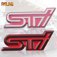 цена на 3D Excellent Smooth Glossy Metal STI Emblem Badge Sticker for Subaru XV Legacy Forester Impreza STI WRX Car-Styling Accessories