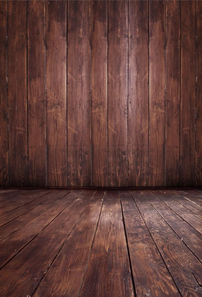 HUAYI Vertical Hot Sale dark brown wood floor Art fabric
