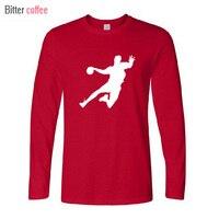 2016 New Novelty Handball T Shirt Men Tee Shirt 100 Cotton Mens Designs Creative Skateboard Long