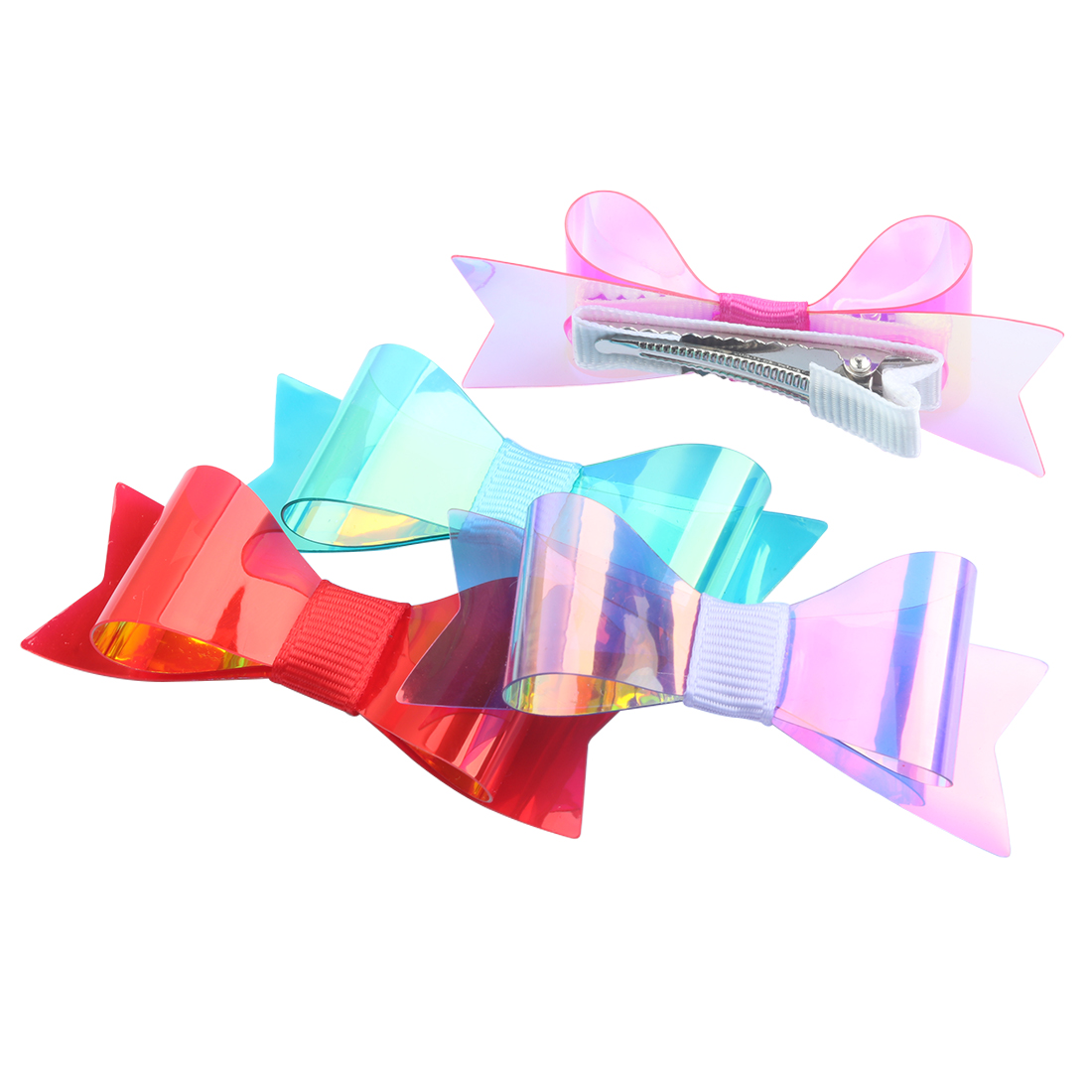 1 Pc Hairbows Mini Bogen Mit Clips Pvc Glänzend Bögen Verknotet Mode Neue Design Mädchen Headwear Kinder Haar Zubehör