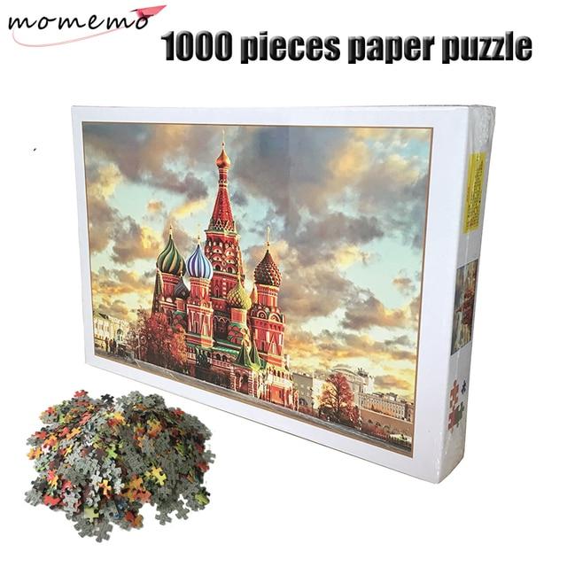MOMEMO Saint Basil's Cathedral Jigsaw Puzzle Adults 1000 Pieces Paper Puzzle Landscape Assembling Puzzles 1000 Pieces Toys