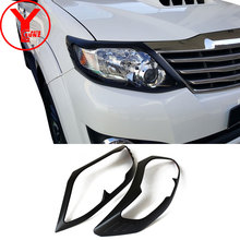 2012-2014 head light cover For Toyota SUV FORTUNER SW4 2012 2013 2014 Black ABS car accessories For Fortuner 2012+ YCSUNZ hj2528 2012