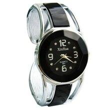 XINHUA Fashion Womens Ladies Round Quartz Analog Dress Bracelet Wrist Watch Gift (Color: Black)